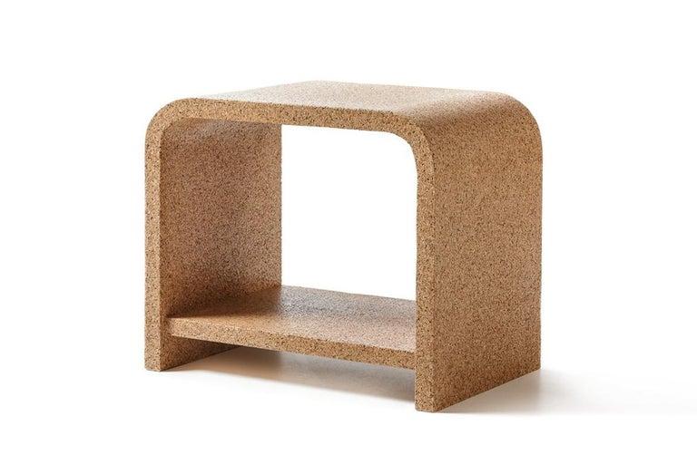 Italian Bisu Cork Bedside by Otq, 2 Pieces For Sale