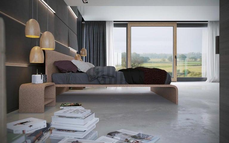 Bisu Cork Bedside by Otq, 2 Pieces For Sale 1