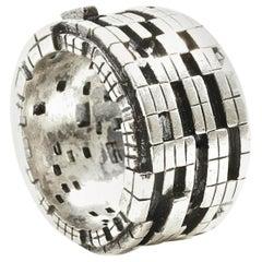 Bitcoin Blockchain Convertible Silver Ring