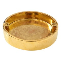 Bitossi Ceramic Ashtray Gold Berkeley House Signed Italy, 1960s