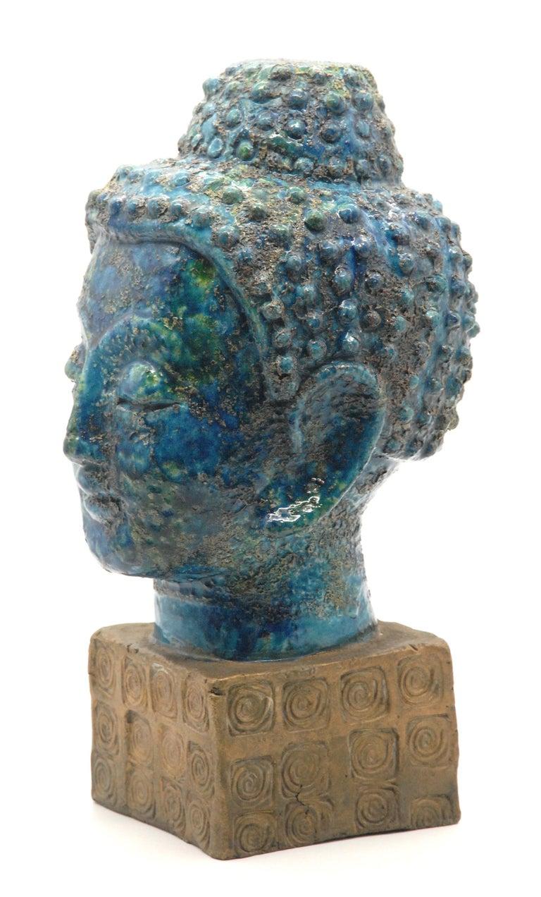 Mid-Century Modern Bitossi Aldo Londi 'Cinese' Glaze Buddha, Italy, circa 1968 For Sale