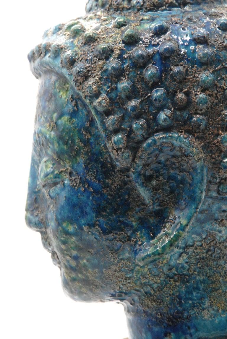 Italian Bitossi Aldo Londi 'Cinese' Glaze Buddha, Italy, circa 1968 For Sale
