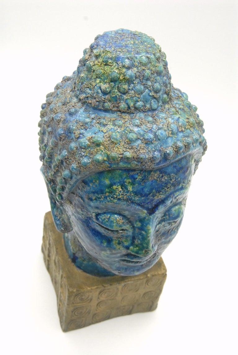 Mid-20th Century Bitossi Aldo Londi 'Cinese' Glaze Buddha, Italy, circa 1968 For Sale