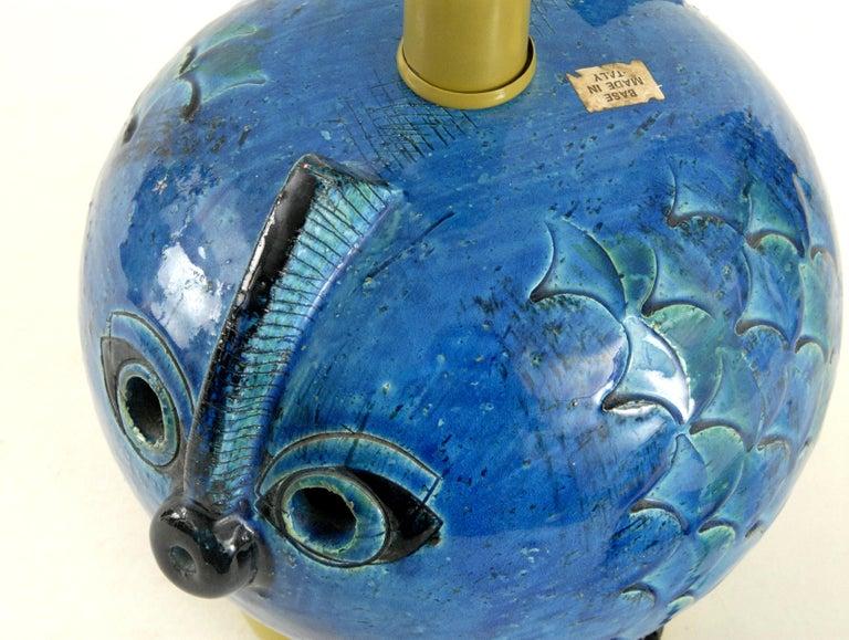 Bitossi Aldo Londi Fish Lamp, Italy, circa 1968 In Excellent Condition For Sale In Sydney, NSW