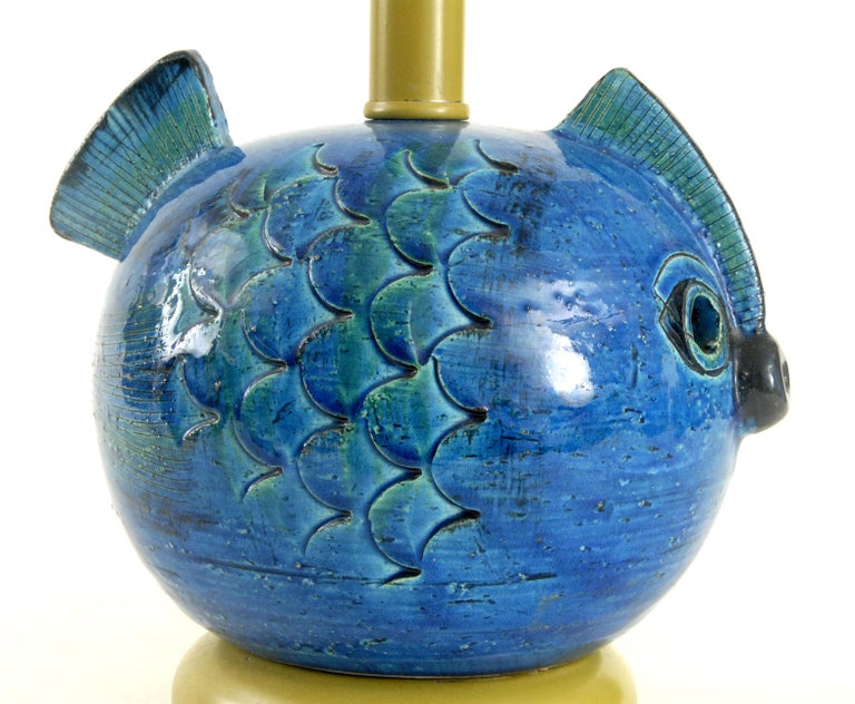 Mid-20th Century Bitossi Aldo Londi Fish Lamp, Italy, circa 1968 For Sale