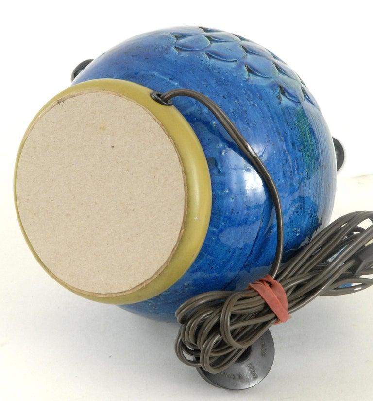 Pottery Bitossi Aldo Londi Fish Lamp, Italy, circa 1968 For Sale