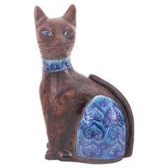 Bitossi Aldo Londi Moresco pattern Cat, Italy, circa 1968