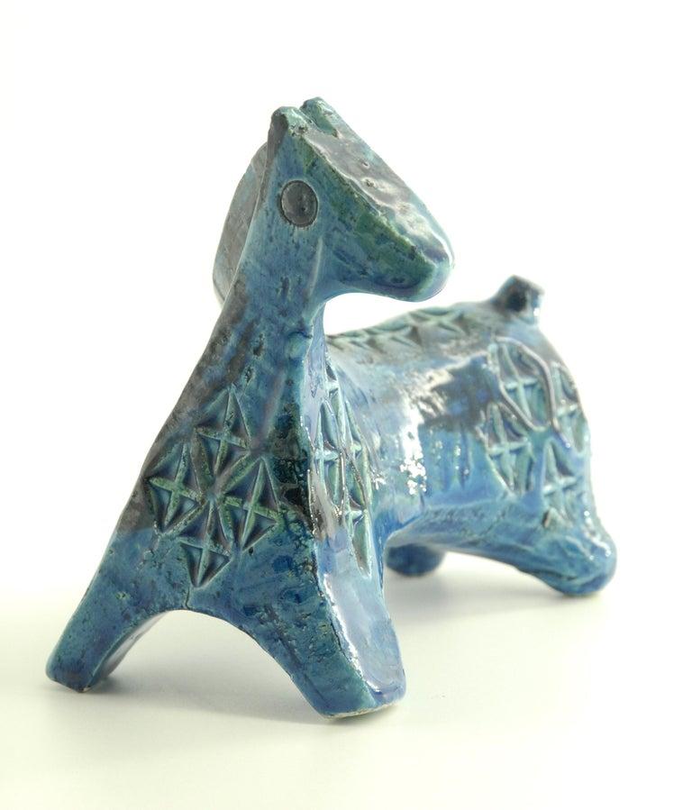 An Aldo Londi designed 'Rimini Blue' small stylized horse.