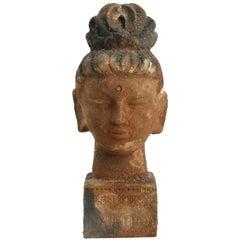 Bitossi Aldo Londi Scavo Guan Yin Head, Italy, circa 1965