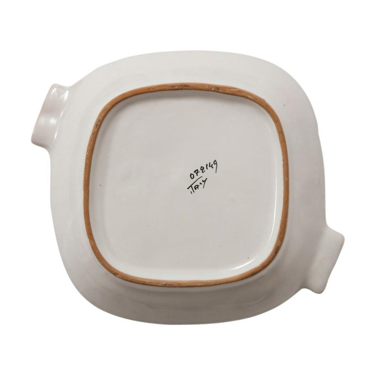 Bitossi Ashtray, Ceramic Cubist Woman, Signed In Good Condition For Sale In New York, NY
