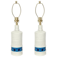 Bitossi Bone White, Azure Ceramic Lamps