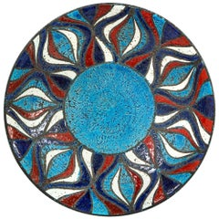 Bitossi Bowl, Ceramic, Blue Red and White Onion Pattern
