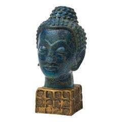Bitossi Buddha, Ceramic Blue Gold