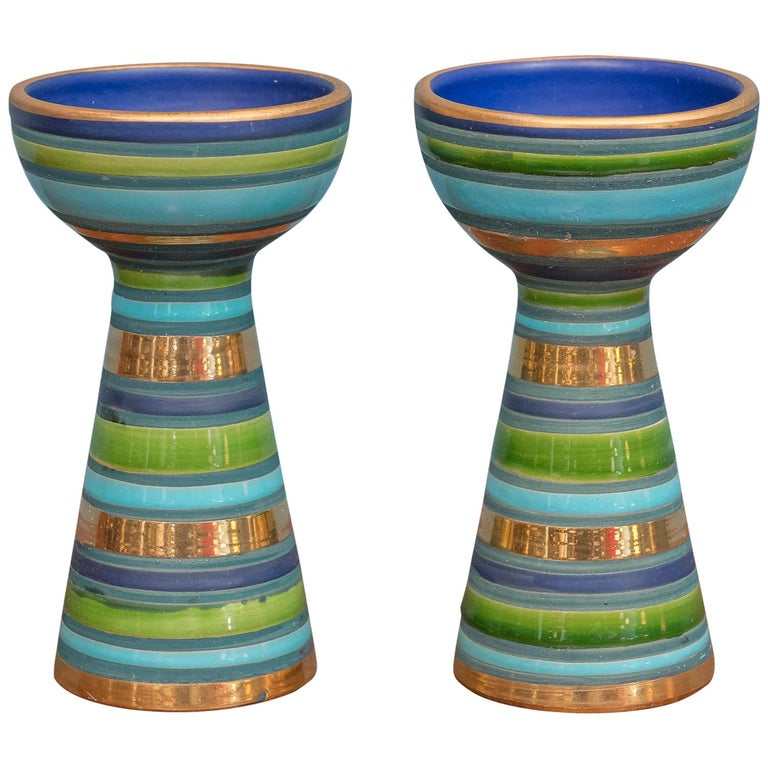 Bitossi Ceramic Candlesticks For Sale