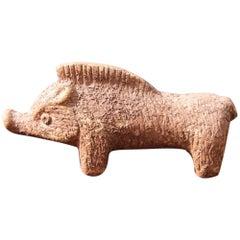 Bitossi Ceramic Depicting Wild Boar in Fake Excavation, 1960