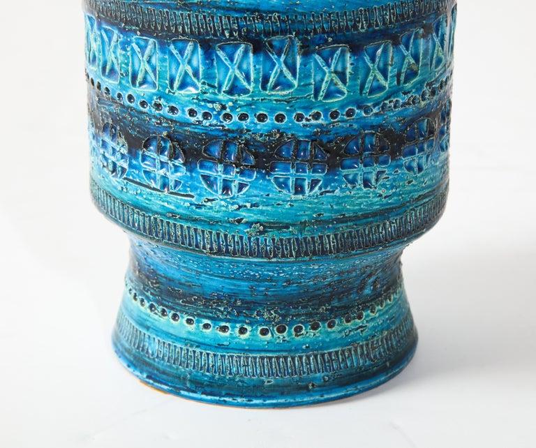 Mid-Century Modern Bitossi, Ceramic Vase, Midcentury, Italy, Turquoise, circa 1950