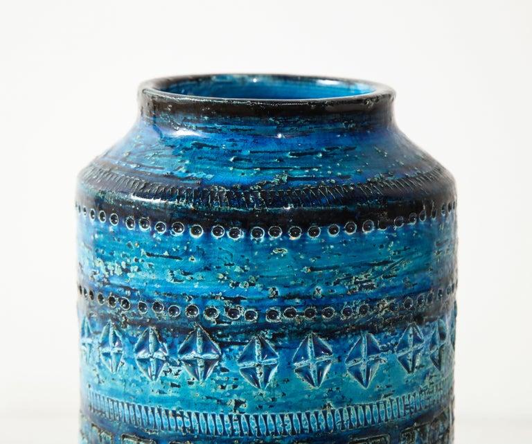 Italian Bitossi, Ceramic Vase, Midcentury, Italy, Turquoise, circa 1950