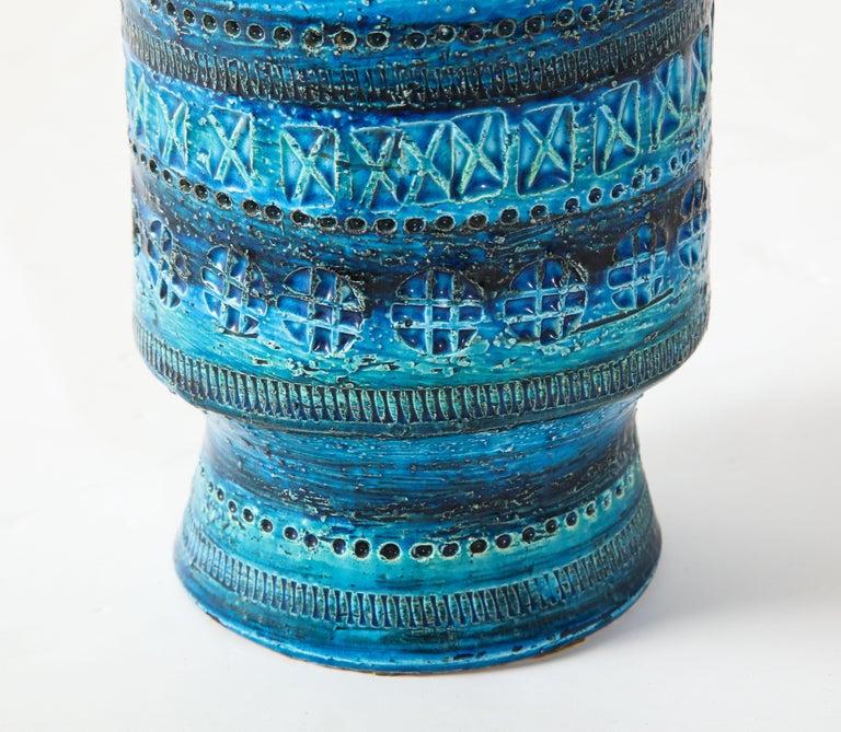 Mid-20th Century Bitossi, Ceramic Vase, Midcentury, Italy, Turquoise, circa 1950