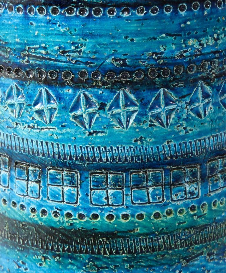 Bitossi, Ceramic Vase, Midcentury, Italy, Turquoise, circa 1950 1