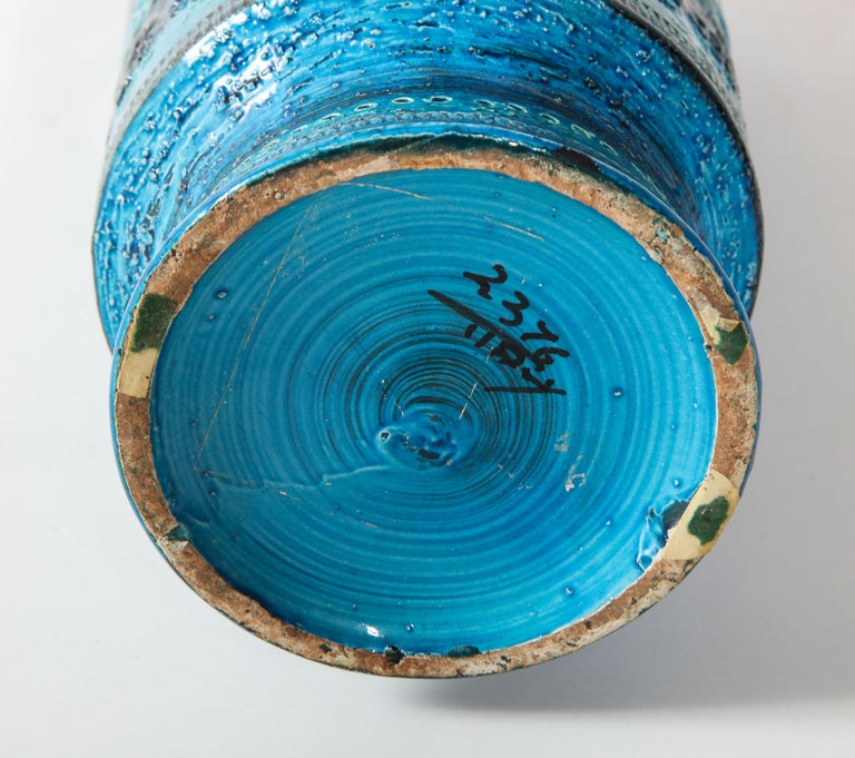 Bitossi, Ceramic Vase, Midcentury, Italy, Turquoise, circa 1950 2