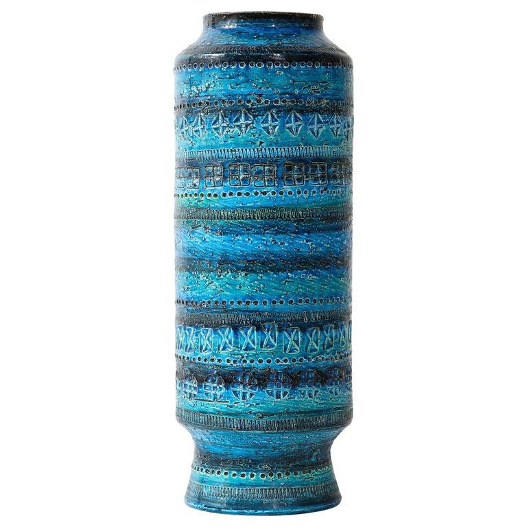 Bitossi, Ceramic Vase, Midcentury, Italy, Turquoise, circa 1950