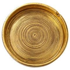 Bitossi for Berkeley House Ashtray, Brushed Gold, Signed