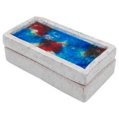 Bitossi for Raymor Italian Ceramic Glass Mosaic Box