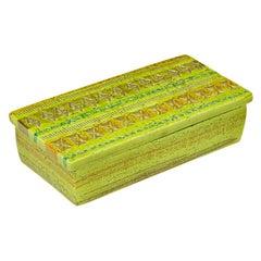 Bitossi for Rosenthal Netter Box, Ceramic, Chartreuse, Signed