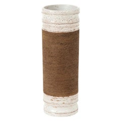 Bitossi for Rosenthal Netter Vase, Ceramic, Brown and White, Signed
