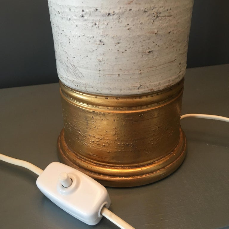 Bitossi Gold and Birch Table Lamp for Bergboms, circa 1960s For Sale 3