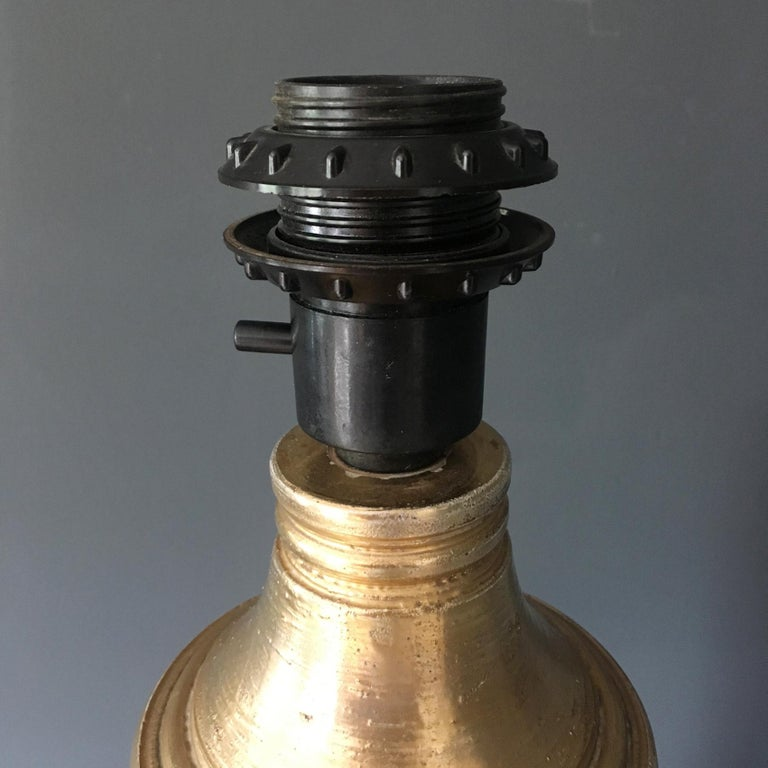 Bitossi Gold and Birch Table Lamp for Bergboms, circa 1960s For Sale 5