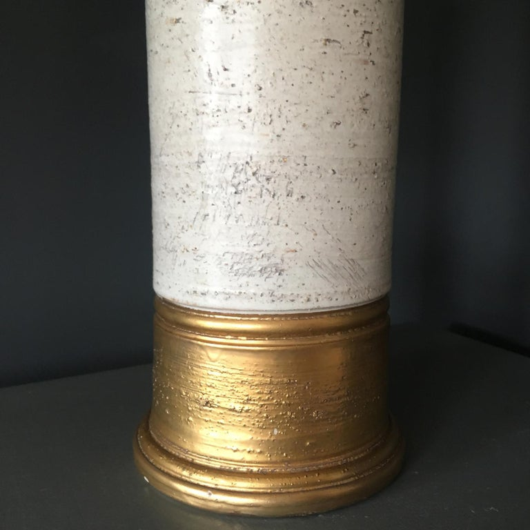 Mid-Century Modern Bitossi Gold and Birch Table Lamp for Bergboms, circa 1960s For Sale