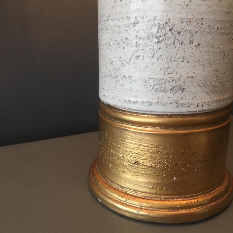 Bitossi Gold and Birch Table Lamp for Bergboms, circa 1960s In Good Condition For Sale In Hastings, GB
