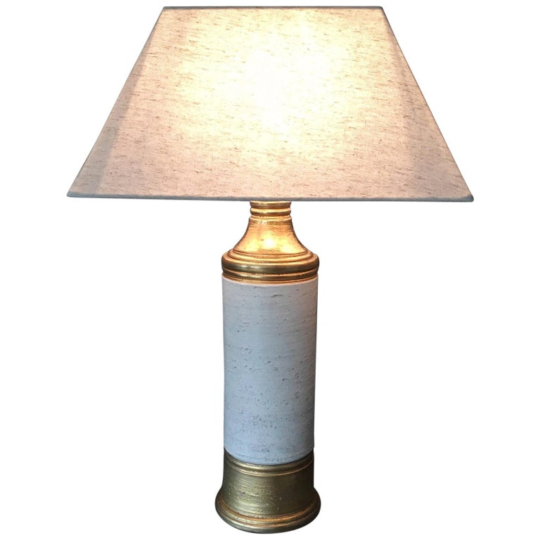 Bitossi Gold and Birch Table Lamp for Bergboms, circa 1960s For Sale