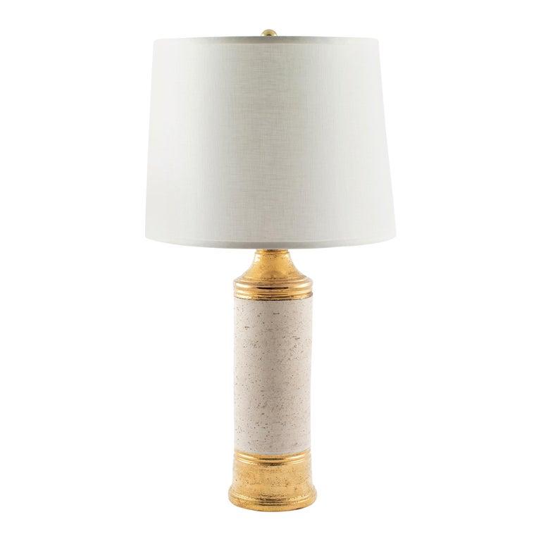 "Bitossi Gold ""Birch"" Table Lamp for Bergboms, circa 1960s For Sale"