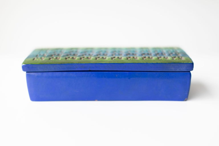 Mid-Century Modern Bitossi Italian Pottery Box Imported by Rosenthal Netter For Sale