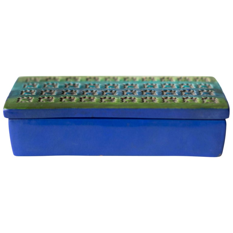 Bitossi Italian Pottery Box Imported by Rosenthal Netter For Sale