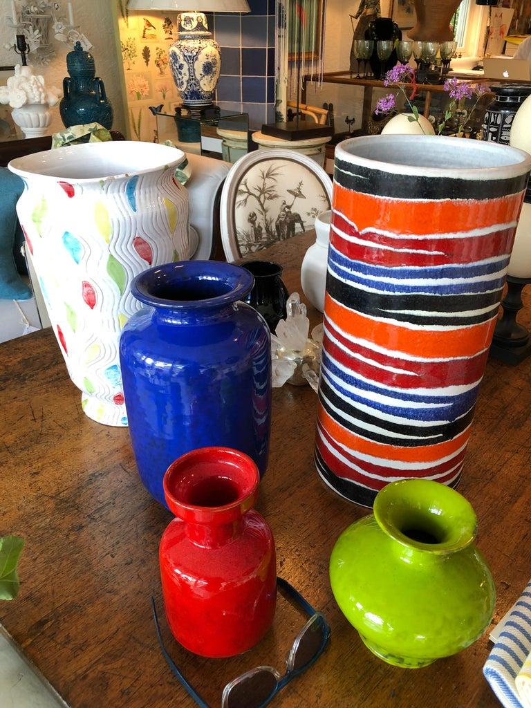 Bitossi Italian Pottery Raymor Jar and Cover Vintage Rimini Blue Londi Ceramic For Sale 2