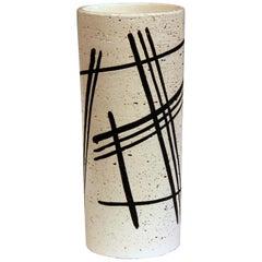 Bitossi Italian Pottery Raymor Rosenthal-Netter Vase Vintage Londi Black & White