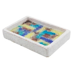 Bitossi Italy Ceramic and Glass Mosaic Ashtray Bowl