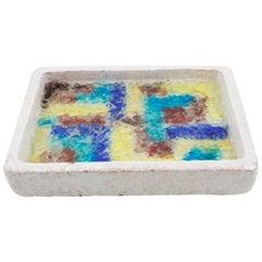 Bitossi Italy Ceramic Glass Mosaic Ashtray Bowl