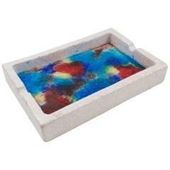 Bitossi for Raymor Ceramic Ashtray Bowl Glass Mosaic