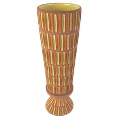 Bitossi Midcentury Italian Tall Footed Vessel for Raymor by Aldo Londi, 1960s