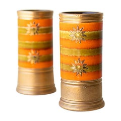 Bitossi Orange and Gold Vases for Rosenthal Netter