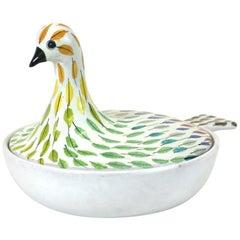Bitossi Piume Covered Bird Dish, Aldo Londi