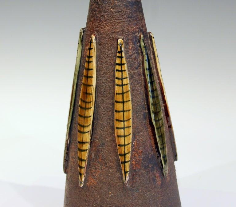 Mid-20th Century Bitossi Pottery Londi Vase Italian Raymor Ceramic 1960s Lamp For Sale