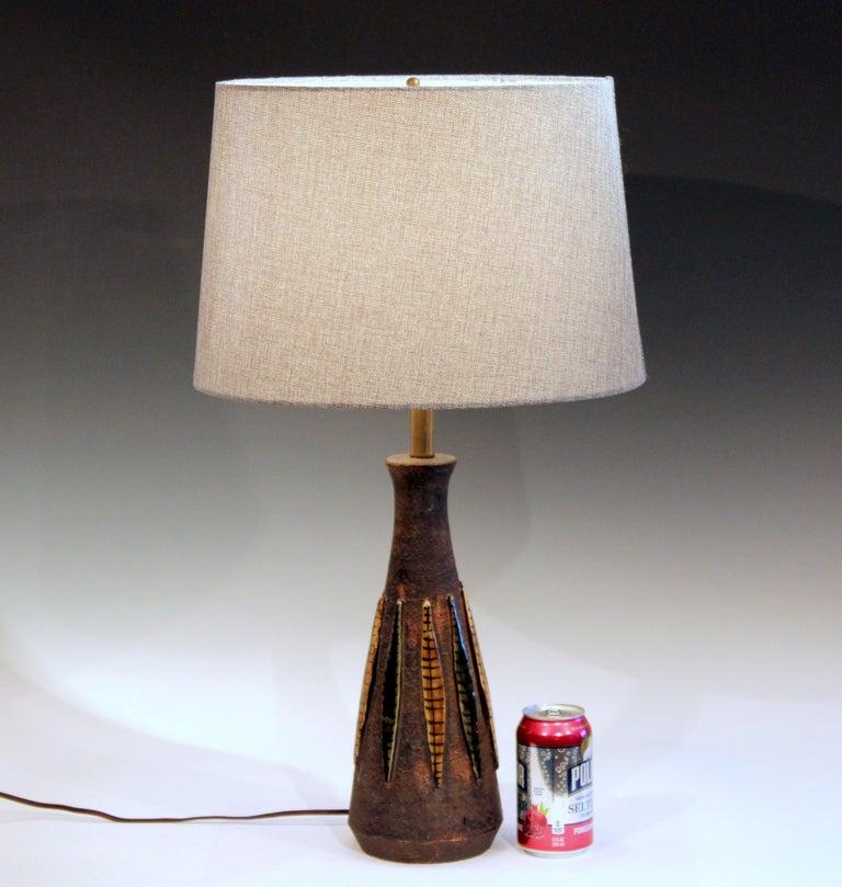 Bitossi Pottery Londi Vase Italian Raymor Ceramic 1960s Lamp For Sale 1