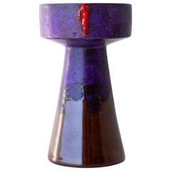 Bitossi Purple Candleholder or Vase for Rosenthal Netter