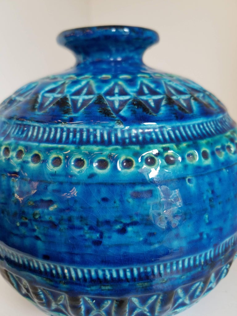Mid-Century Modern Bitossi Sphere Vase by Aldo Londi For Sale