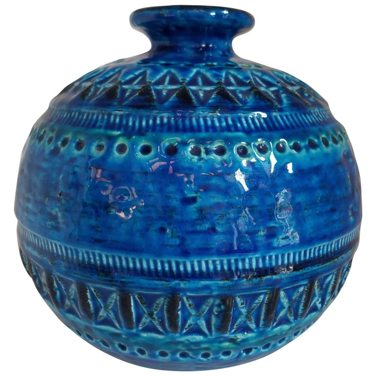 Bitossi Sphere Vase by Aldo Londi For Sale